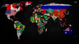 map-earth-flag